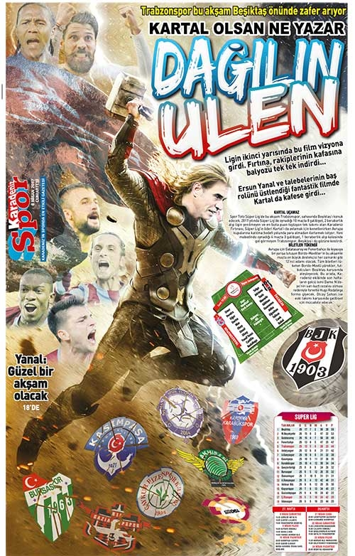 Beşiktaş maçı öncesi yerel basın