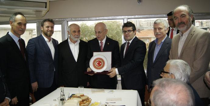 Akçaabatlılar Derneği Meclis Başkanını ağırladı