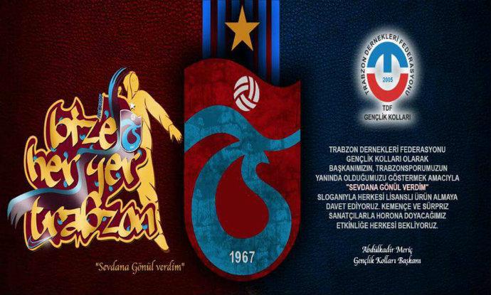 TDF Gençlik Kolları'ndan Trabzonspor'a anlamlı destek