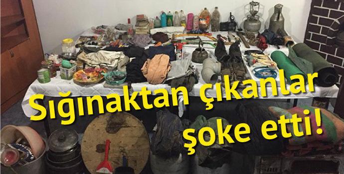 Tonya'da PKK sığınağı bulundu
